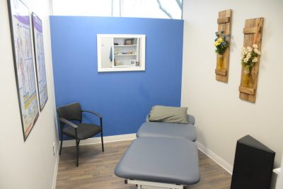 Exam Room at Cornerstone Therapy & Wellness located in St.Catherine's Ontario.