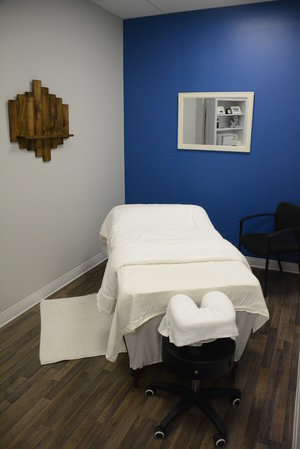 Massage Therapy table at Cornerstone Therapy & Wellness located in St.Catherine's Ontario.