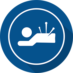 Acupuncture Icon in a blue circle