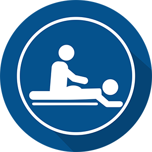 Massage Icon in a blue circle